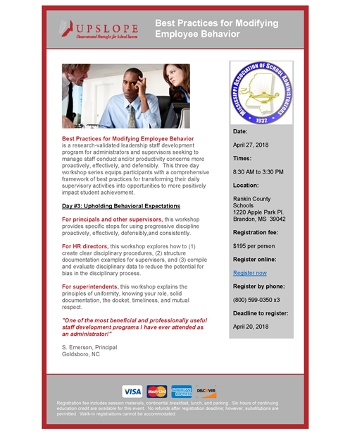 Implementing an Effective and Defensible Employee Code of Conduct @ NC